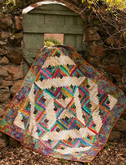Amazon Com Upstairs Downstairs Log Cabin Quilt Pattern By Cut