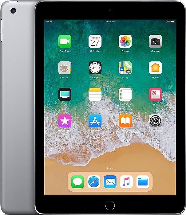 "Apple 9.7"" iPad (6th Generation, 128GB, Wi-Fi Only, Space Grey) (Renewed)"