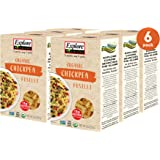 Explore Cuisine Organic Chickpea Fusilli (6 Pack) - 8 oz - Easy to Make Gluten-Free Pasta - High in Plant-Based Protein…