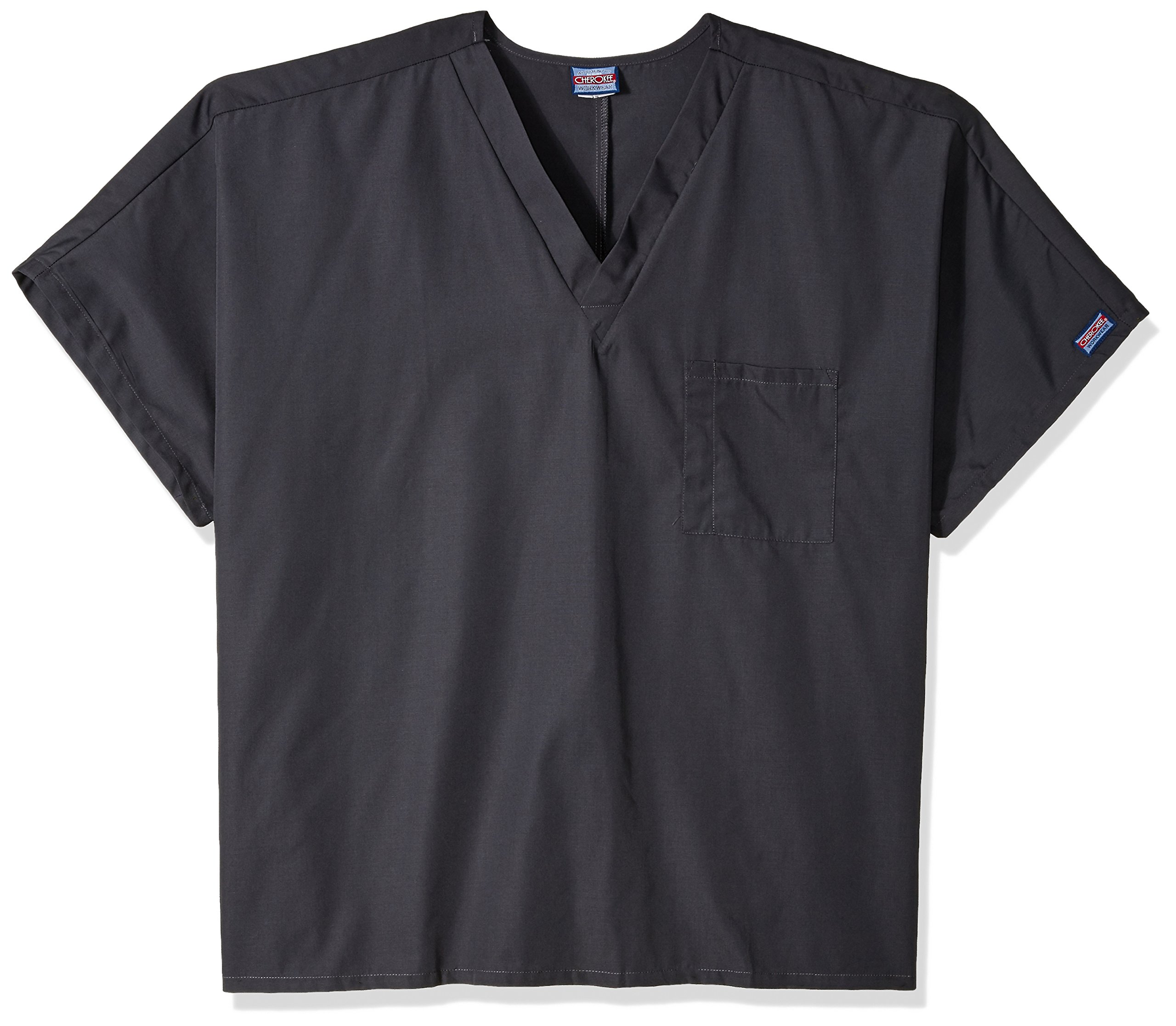 Cherokee Workwear Scrubs Unisex V-neck Tunic Top, Pewter, XX-Large