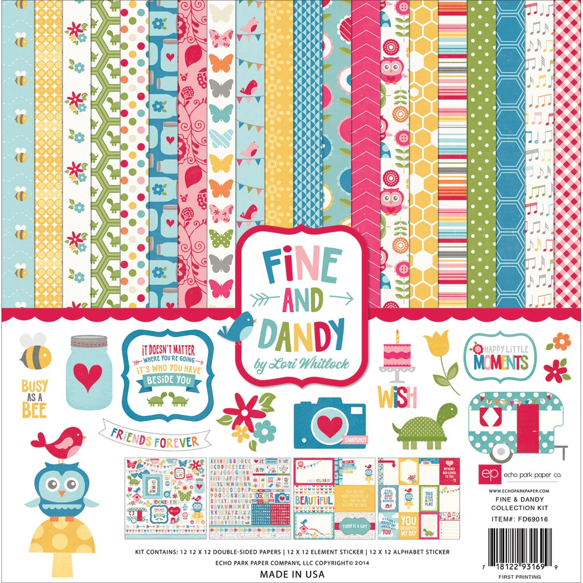 Scrapbook paper collections - Amazon Com Echo Park Paper Company Fd69016 Fine And Dandy Collection Kit