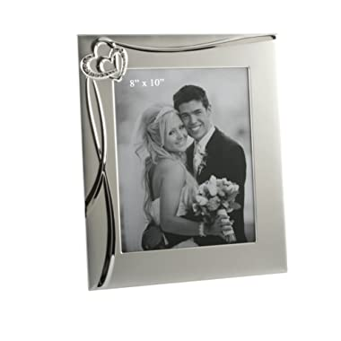 Oaktree Gifts 3D Waves & 2 Hearts Photo Frame 8 x 10