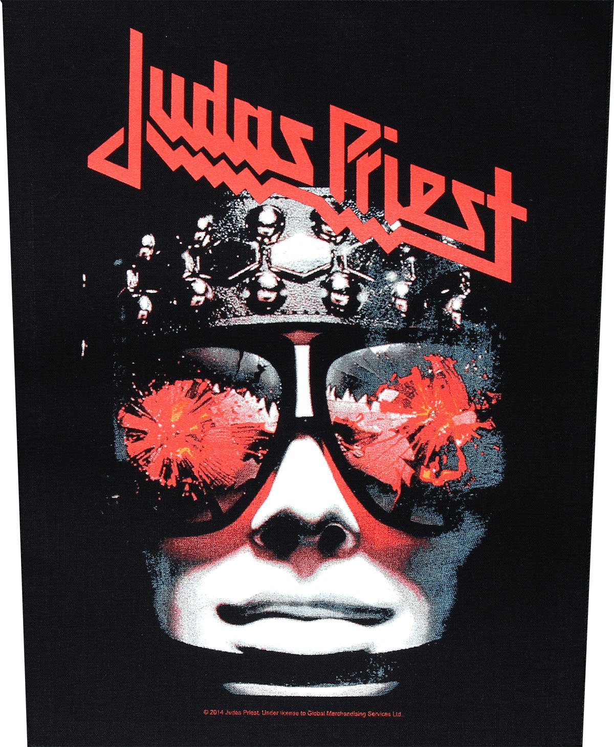 JUDAS PRIEST HELL BENT FOR pelle Backpatch indietro patch