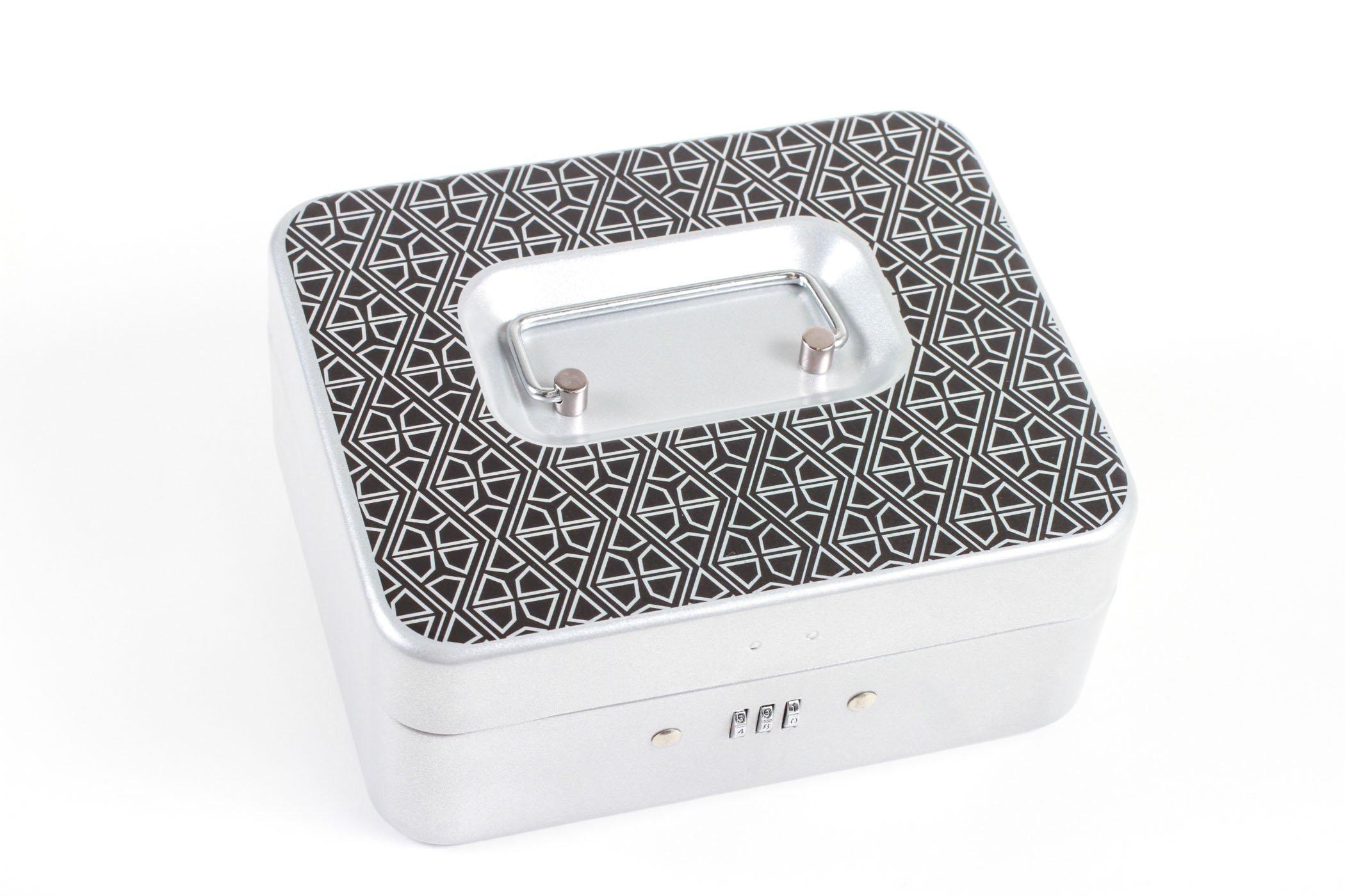 Personal Lock Box- Celtic Diamonds (Black, Small Silver)