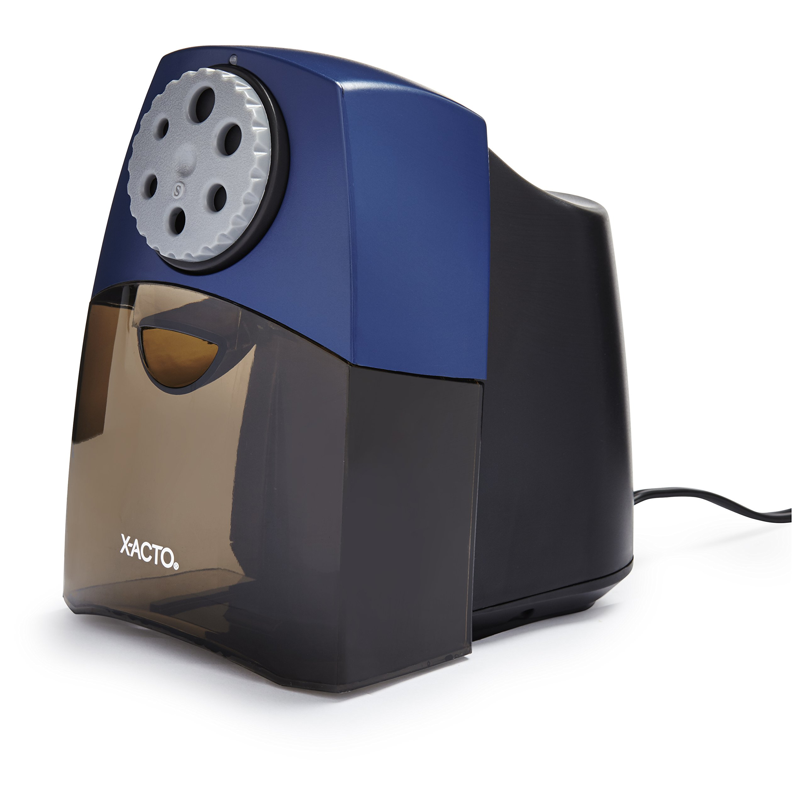 X-ACTO Electric Pencil Sharpener | SchoolPro Pencil Sharpener for Classrooms, Quiet Electric Motor, Adjustable to Six Pencil Sizes by X-Acto