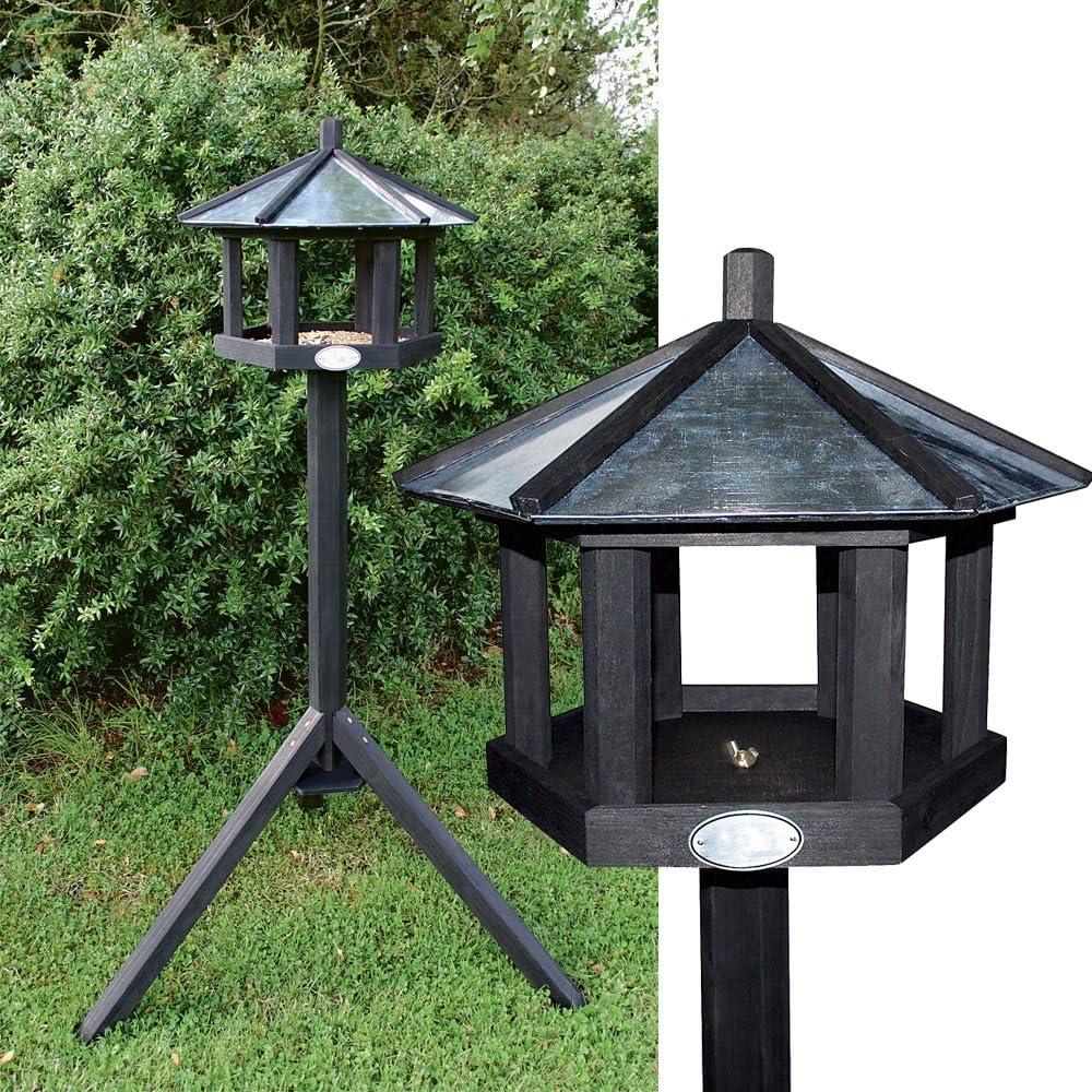 PROHEIM Casita para pájaros con Soporte de Madera de Pino 128 cm - Comedero para pájaros de Estable construcción Resistente a la Intemperie y de Montaje Simple