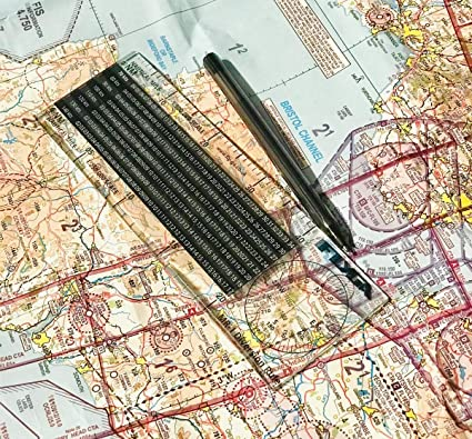 Regla de desvío de vuelo (Plotter de navegación náutica en milla ...