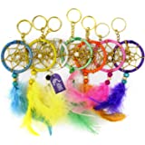Asian Hobby Crafts Dream Catcher Keyring : Set Of 7Pcs : Size L Xb : 15 X5Cm : 'Neon Lights'