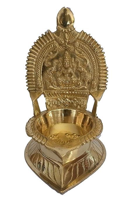 NAYAGI - THE PRINCES Brass Divine KAMAKSHI Amman VILAKKU - Medium Size