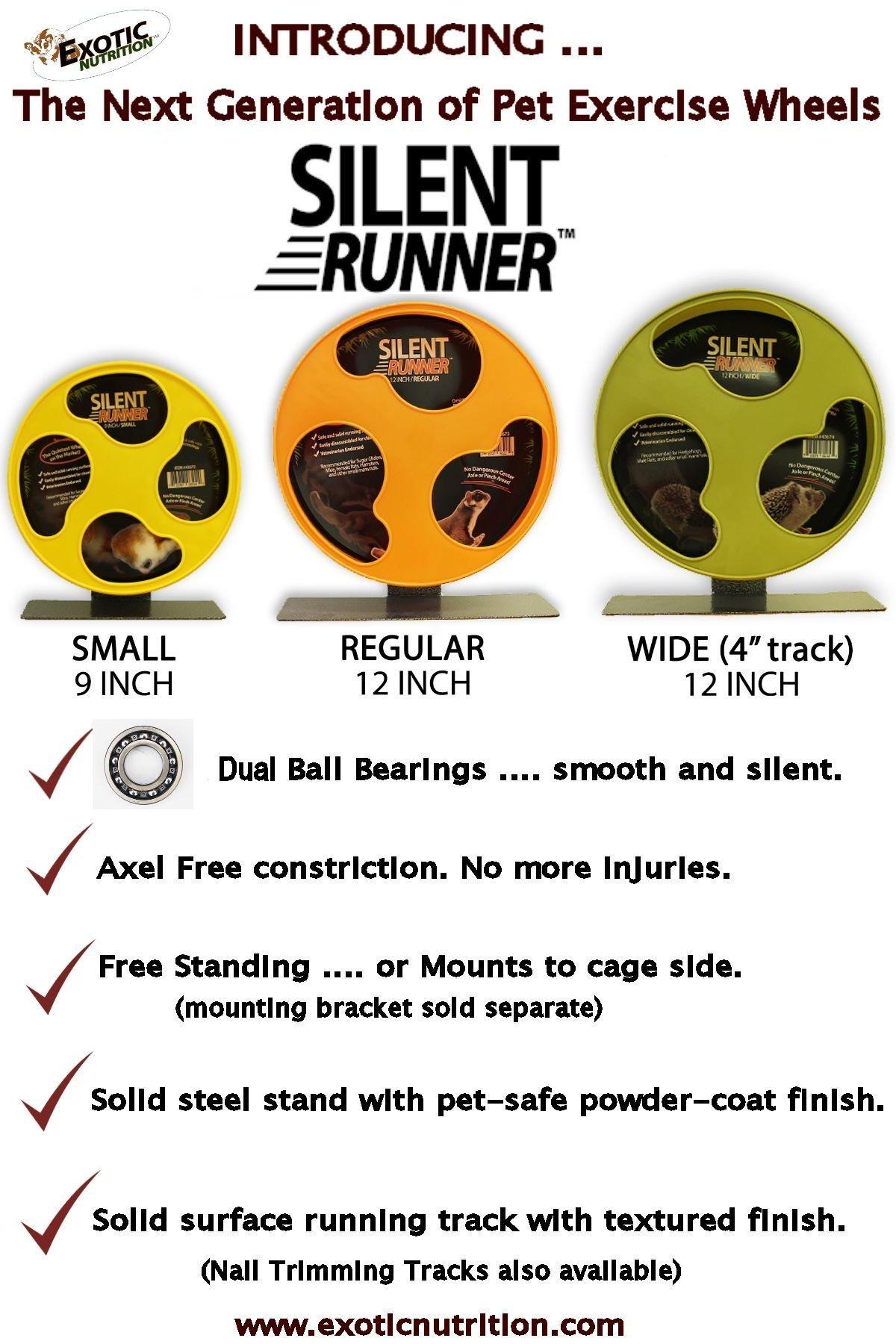 Exotic Nutrition Silent Runner 12'' Regular Wheel + Sandy Track + Cage Attachment