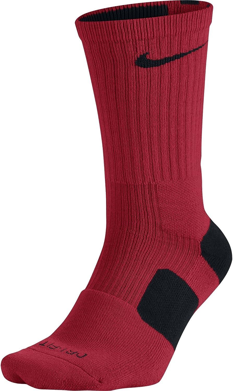 Nike Dri-FIT Elite Basketball Crew Socks University Red/Black Size X-Large