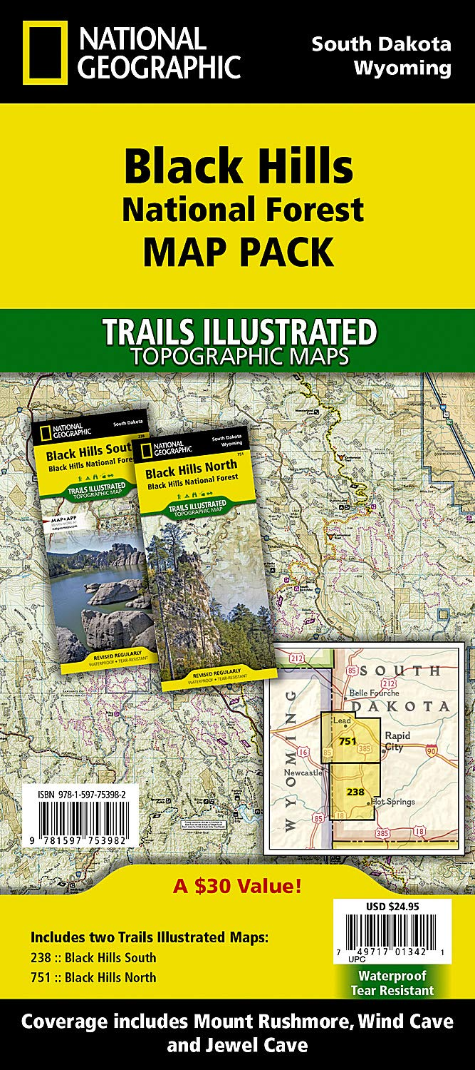Black Hills National Forest Map Pack Bundle  Trails Illustrated Other Rec. Areas  National Geographic Trails Illustrated Maps
