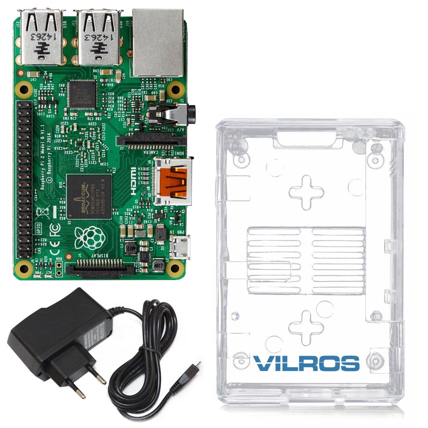 Vilros Raspberry Pi 2 Model B (1GB) Basic Starter Kit: Amazon.es ...