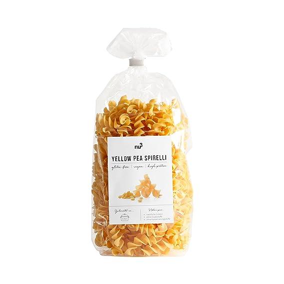 nu3 Low carb pasta de guisante amarillo | 250g de fideos fusilli | Pasta sin gluten