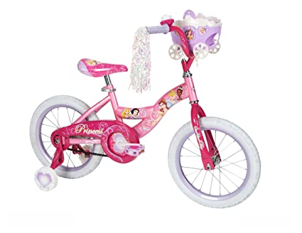 dcc84c4eda9 Image Unavailable. Image not available for. Color: Huffy Girl's Disney  Princess Bike, Jewel Pink/Pink, 16-Inch