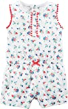 Carters Baby Girls Floral Romper,White,3 Months