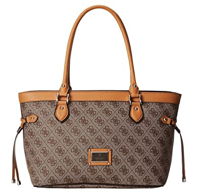 0f46ae91fd48 GUESS Women s Scandal Small Carryall Brown Handbag  Handbags  Amazon.com
