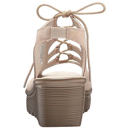 6eef2df844ee ... Skechers Women s Parallel Peep Toe Ghillie Slingback Wedge Sandal