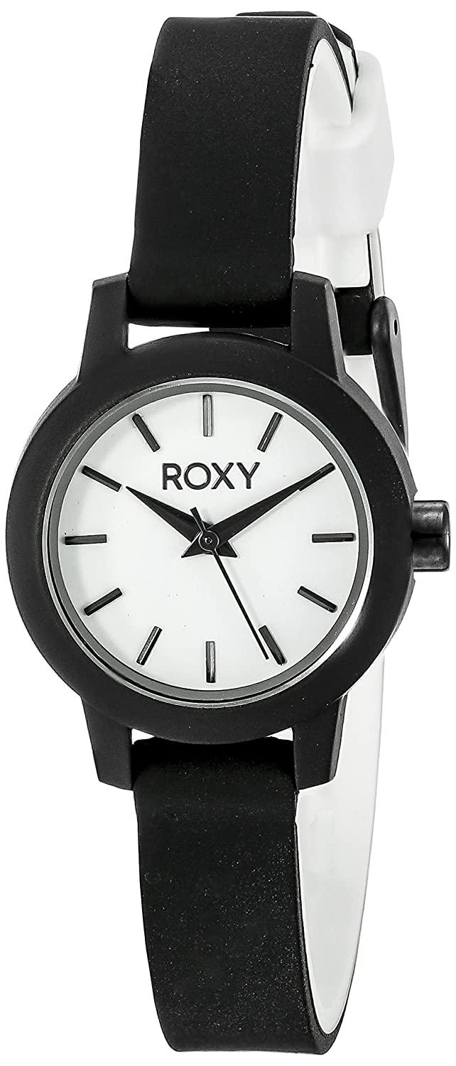 6298a18a15 Buy Roxy Women s RX 1016WTBK The Monica Black Silicone Strap Watch Online  at Low Prices in India - Amazon.in