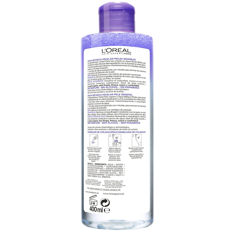 LOreal Paris Dermo Expertise Desmaquillante Ojos y Labios sin Efecto Gaso - 125 ml: Amazon.es: Amazon Pantry