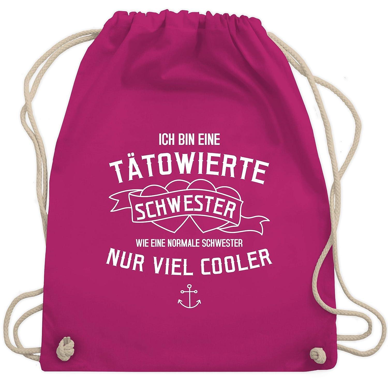 Shirtracer Schwester /& Tante Ich bin eine t/ätowierte Schwester Turnbeutel und Stoffbeutel aus Bio-Baumwolle