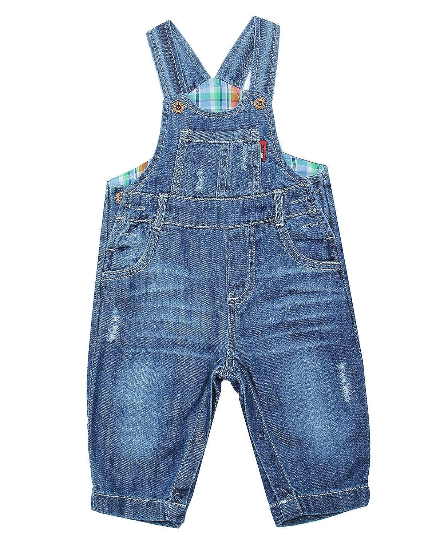 Various Styles ZL MAGIC Baby /& Little Boy//Girl Soft Washed Denim Bib Overalls