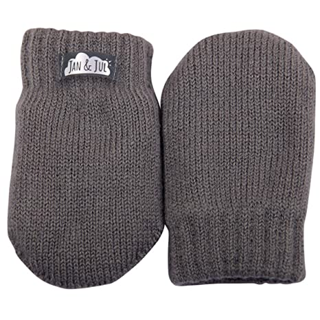 Baby thumbless winter knit mittens or kids boy girl winter knit mittens with thumb