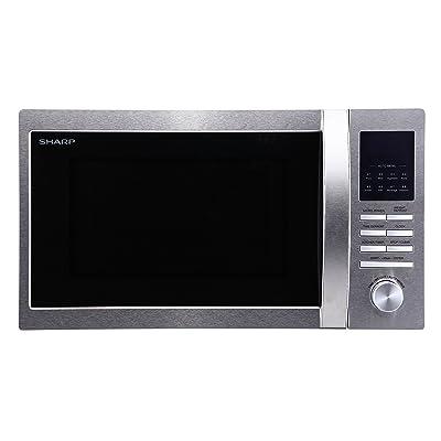 Sharp r322stwe micro-ondes/900W/25l/Argent/Noir//Démarrage rapide automatique Programmes/Temps de commutation automatique