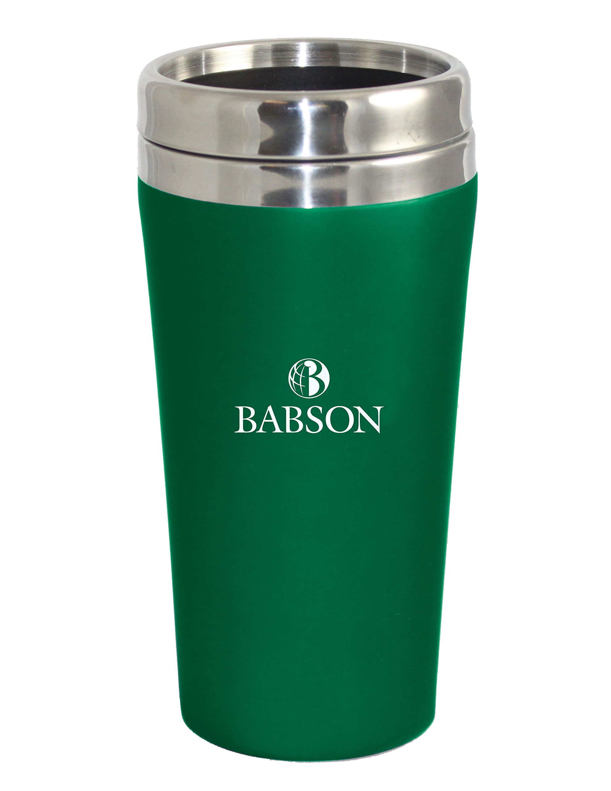 The Fanatic Group Babson College Double Walled Travel Tumbler, Green - Design 1
