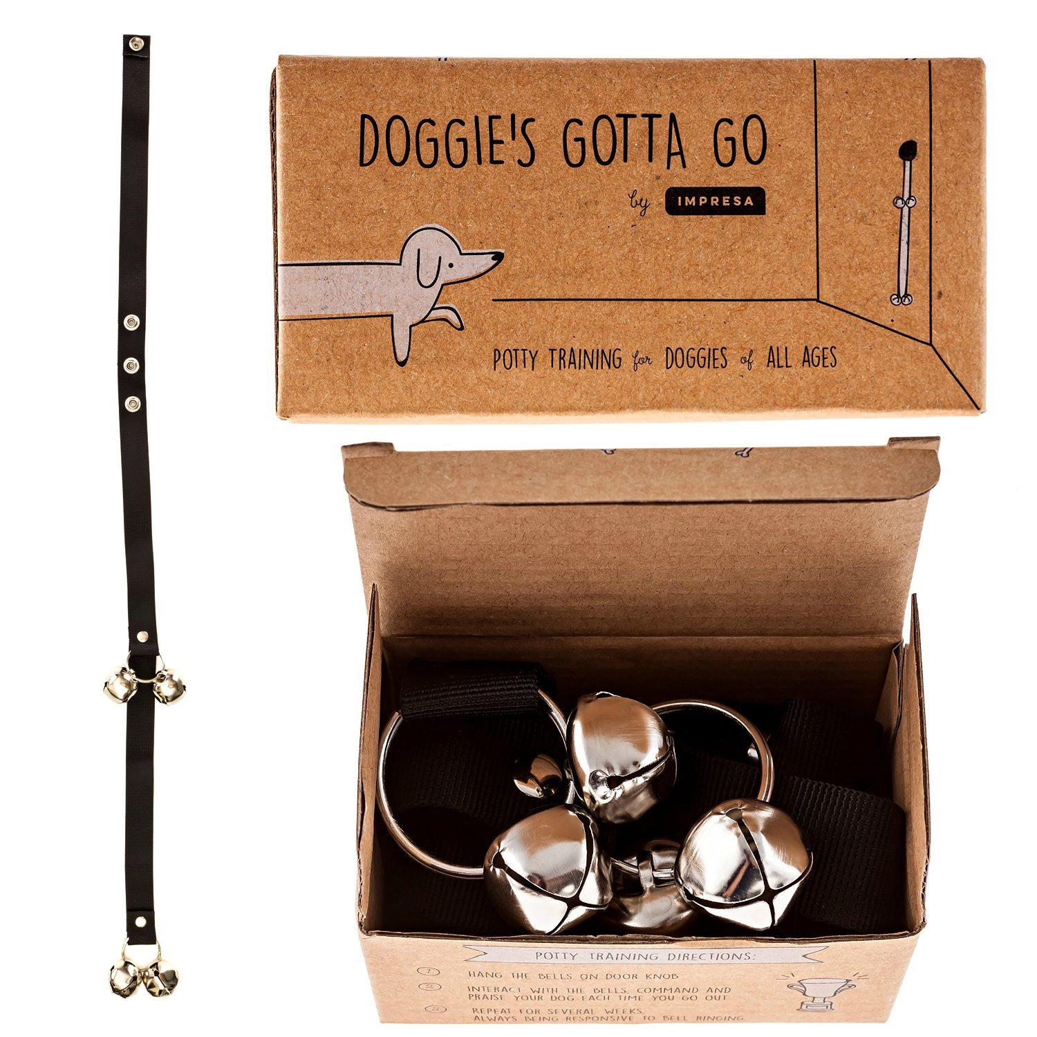 Dog Bells for Potty Training - Doggie Doorbell for Housetraining Your Doggy o