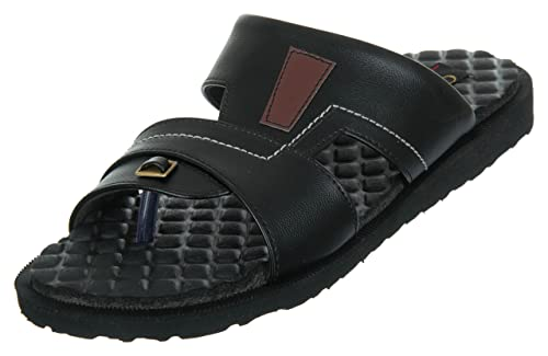 4cd111d1b Medifoot Diabetic & Orthopedic Care Black Rubber Footwear/Slipper ...