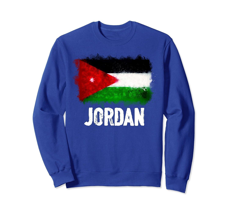 Jordan Flag Sweatshirt | Watercolor Style Pullover-alottee gift