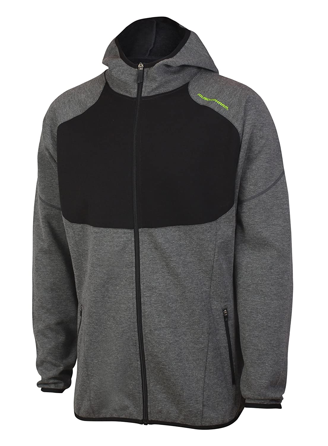 MusclePharm Herren Full Zip Hoodie with Contrast Panels
