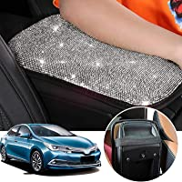 SUHU Bling Car Armrest Cover Cute Charming Auto Center Console Protective Cover Luster Crystal Rhinestone Car Arm Rest…