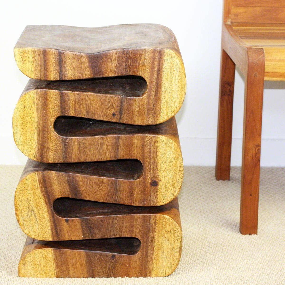 Haussmann Handmade 20 Oak Oil Wave Table Thailand