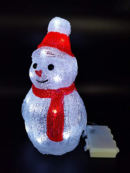 Décoration de Noël Bonhomme de neige avec instrument hauteur 8 cm NEUF neige glacier