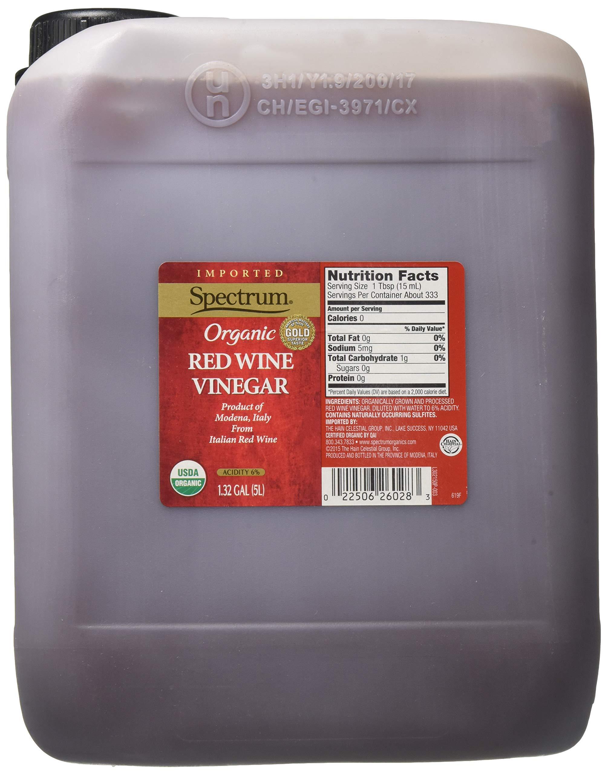 Spectrum Naturals Organic Red Wine Vinegar, 168.96 Ounce by Spectrum