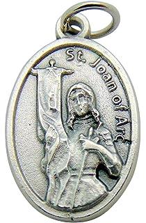 Amazon pewter st saint joan of arc medal pendant necklace on st joan of arc medal aloadofball Gallery