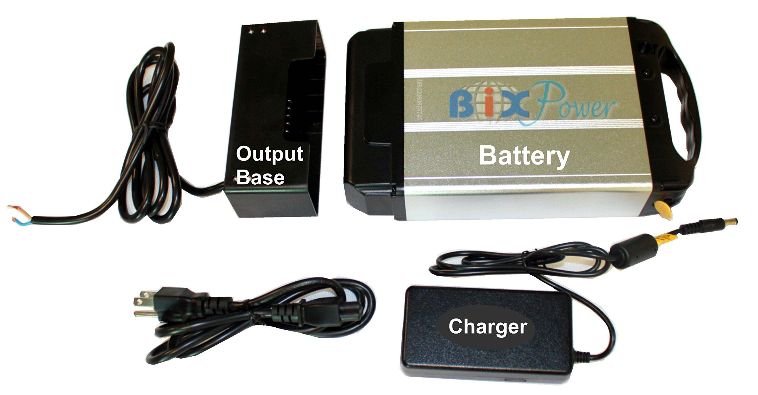 BiXPower 24V 12Ah ( 288 Watt-hour) High Capacity Light Weight Lithium Ion Electric Bicycle E-Bike Battery Pack -BiXPower BX2493H