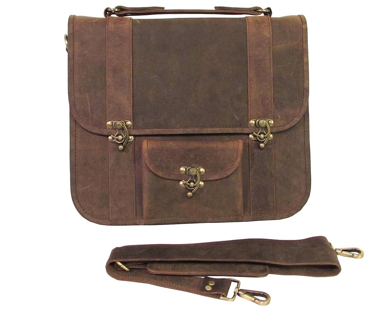 Leather Messenger Bag Rugged Laptop Bag Nomad X One Leaf