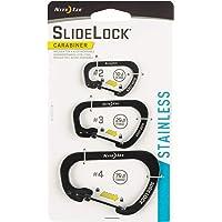 Nite Ize Unisex Slidelock Kilitli Çelik Karabiner 3lü Paket, Siyah, 2,3,4, CSLC-01-R6