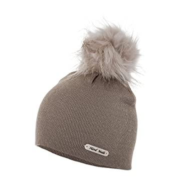 aa61d9ea6ff Love Lola Womens Bobble Hats Beanie Lurex Thread Faux Fur Pom Pom Winter  Woolly Knitted Ski Hats (Beige)  Amazon.co.uk  Clothing