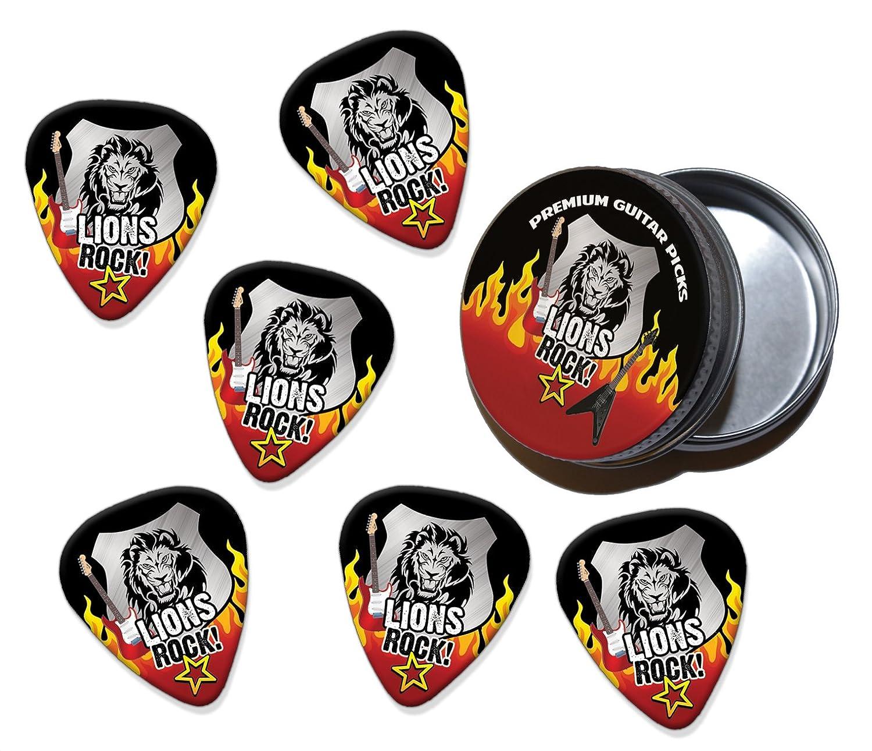 Lion Lions Rock 6 X Púas Para Guitarra In Tin (R1): Amazon.es ...