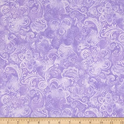 Amazon.com: 44 en amplia Colcha Fleur púrpura tela por el ...