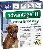 Advantage II Extra Large Dog 4-Pack