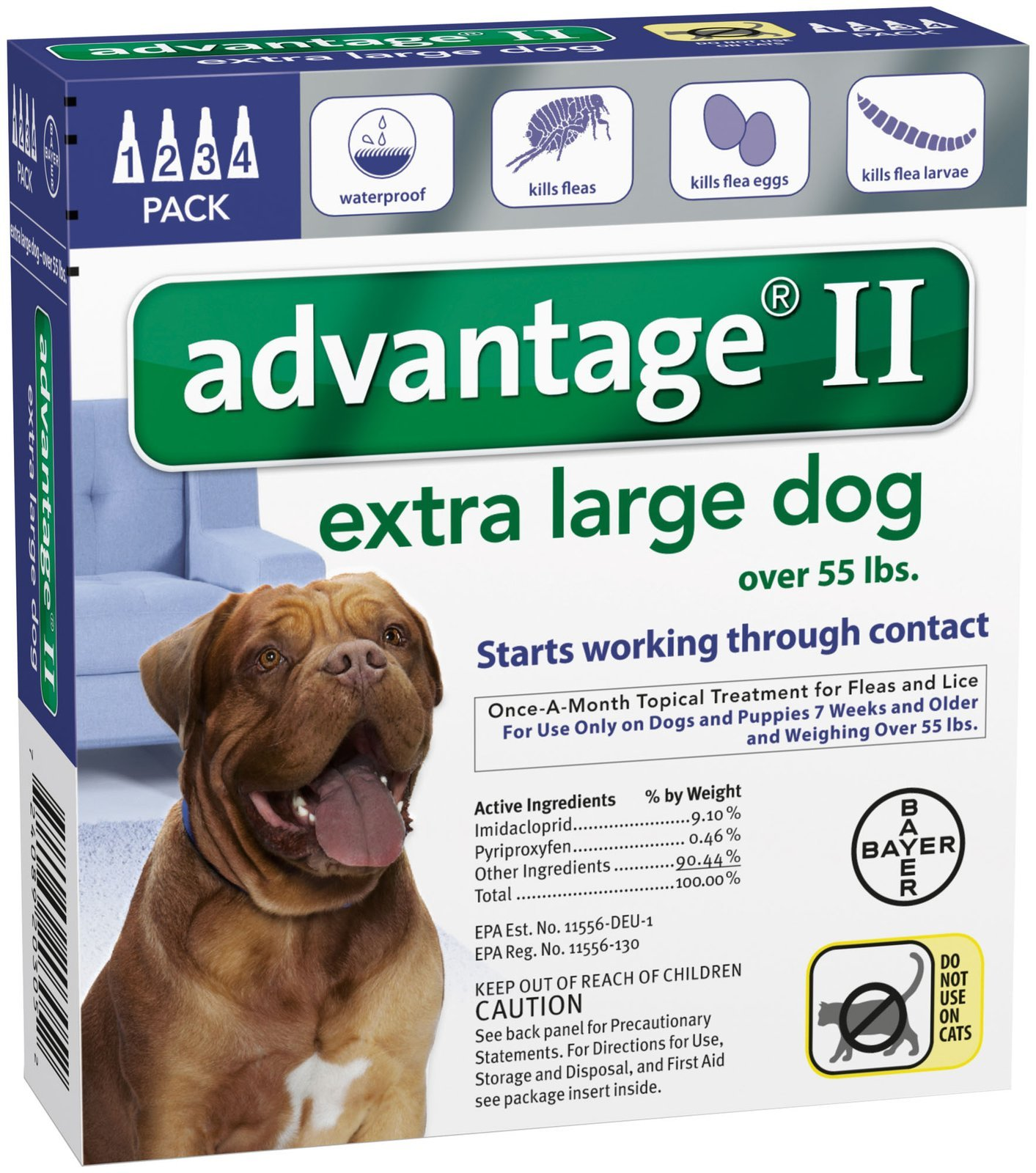 Bayer Animal Health Advantage II Extra Large Dog 4-Pack by Bayer Animal Health