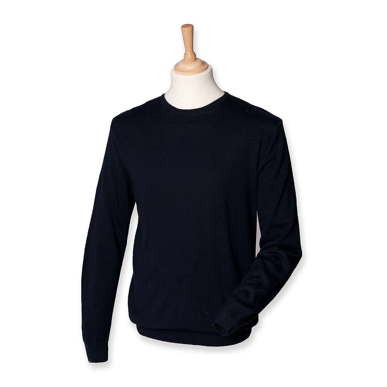 Henbury Men's Lightweight Crew Neck Long Sleeve Sweater
