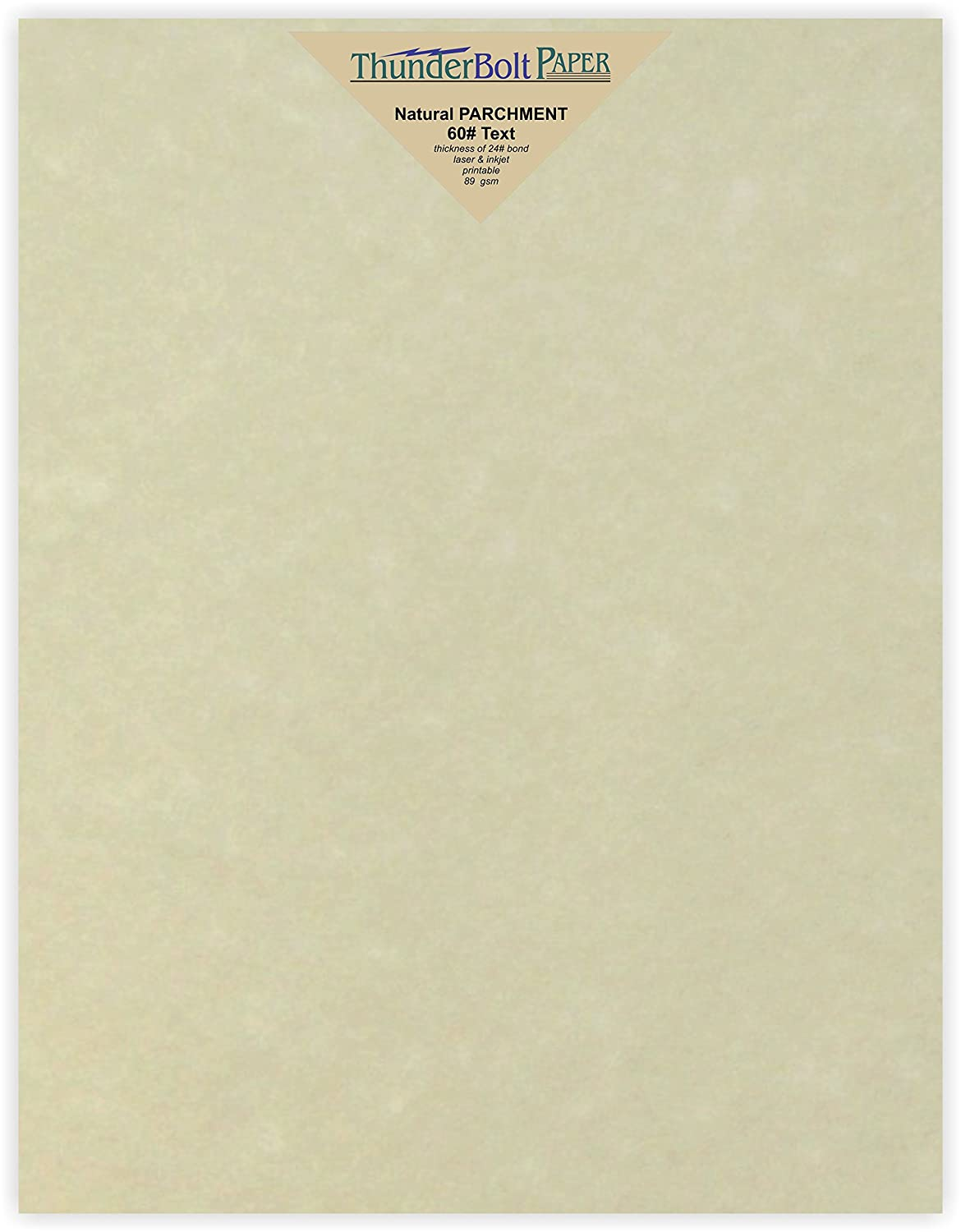 350 Natural Parchment 60# Text (=24# Bond) Paper Sheets - 8.5 X 11 Inches Standard Letter|Flyer Size - 60 Pound is Not Card Weight - Vintage Colored Old Parchment Semblance TBP 4336882739