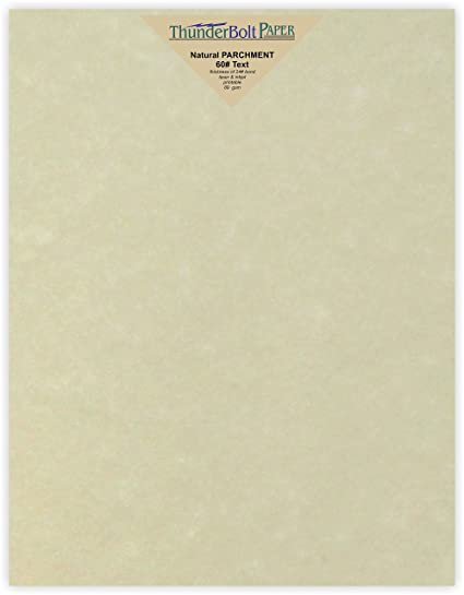 amazon com 50 natural parchment 60lb text weight 8 5 x 11 inches