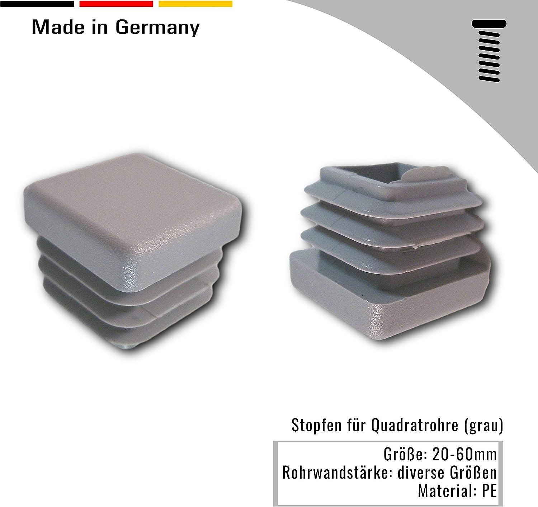Gr/ö/ßen//Farben versch 20x Stopfen f/ür Quadratrohre